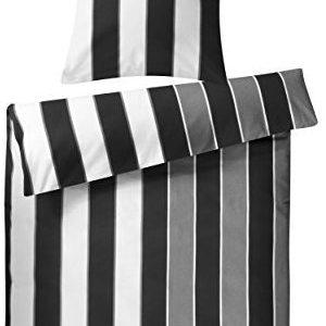 Traumhafte Bettwäsche aus Biber - schwarz 135x200 von Genieße den Schlaf