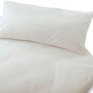 Hübsche Bettwäsche aus Biber - weiß 155x220 von Cotonea