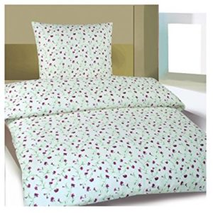 Schöne Bettwäsche aus Biber - weiß 155x220 von Frottier Heimtexhandel