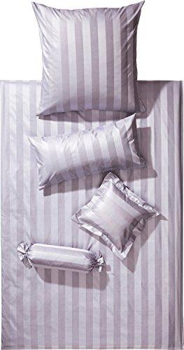 sch ne bettw sche aus damast grau 135x200 von curt bauer bettw sche. Black Bedroom Furniture Sets. Home Design Ideas