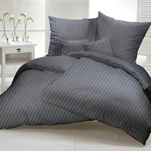 Traumhafte Bettwäsche aus Damast - grau 135x200 von Geniesse den Schlaf
