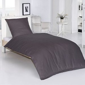 Traumhafte Bettwäsche aus Damast - grau 135x200 von optidream