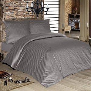 Schöne Bettwäsche aus Damast - grau 200x200 von optidream