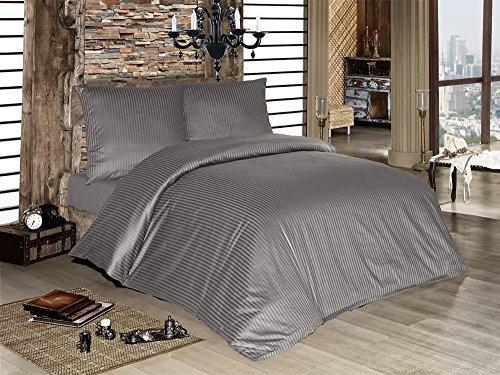sch ne bettw sche aus damast grau 200x200 von optidream bettw sche. Black Bedroom Furniture Sets. Home Design Ideas