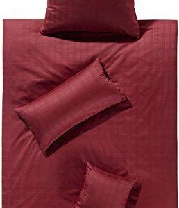 Hübsche Bettwäsche aus Damast - rot 135x200 von Erwin Müller