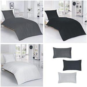 Traumhafte Bettwäsche aus Damast - schwarz 155x220 von Bettenpoint