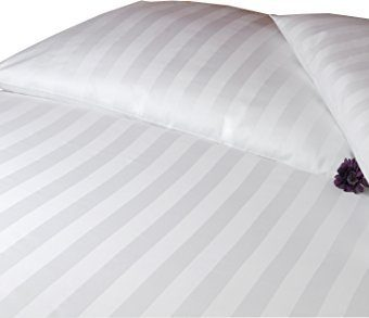 Hübsche Bettwäsche aus Damast - weiß 135x200 von Carpe Sonno