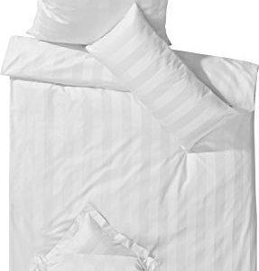 Kuschelige Bettwäsche aus Damast - weiß 135x200 von Curt Bauer