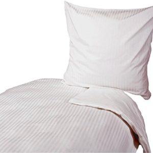 Kuschelige Bettwäsche aus Damast - weiß 135x200 von Hans-Textil-Shop