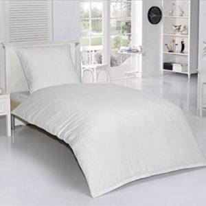 Traumhafte Bettwäsche aus Damast - weiß 135x200 von optidream