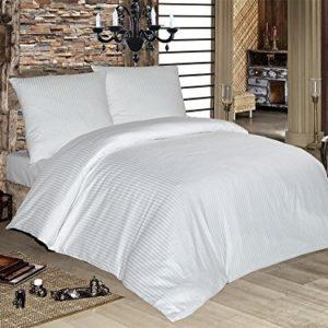 Traumhafte Bettwäsche aus Damast - weiß 200x200 von optidream