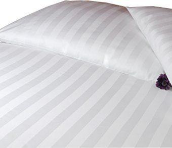 Hübsche Bettwäsche aus Damast - weiß 220x240 von Carpe Sonno