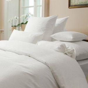 Schöne Bettwäsche aus Damast - weiß 220x240 von Janine Design