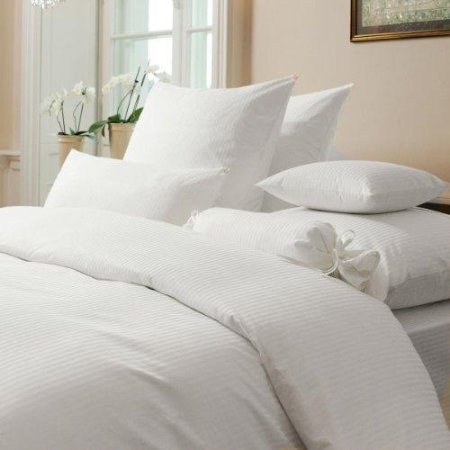 sch ne bettw sche aus damast wei 220x240 von janine. Black Bedroom Furniture Sets. Home Design Ideas