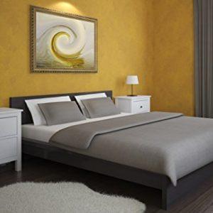 Hübsche Bettwäsche aus Flanell - grau 155x220 von Carpe Sonno