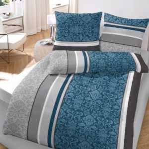 Traumhafte Bettwäsche aus Flanell - petrol 135x200 von Ido