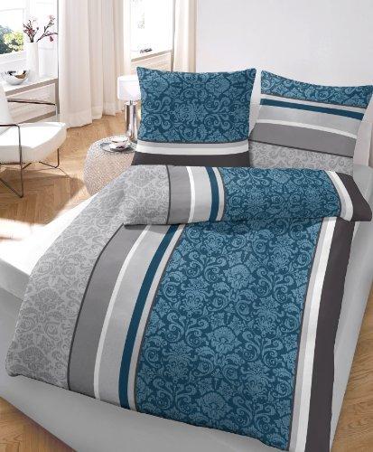 traumhafte bettw sche aus flanell petrol 135x200 von ido. Black Bedroom Furniture Sets. Home Design Ideas