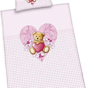Traumhafte Bettwäsche aus Flanell - rosa 100x135 von Herding