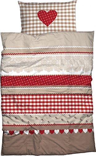 kuschelige bettw sche aus flanell rot 135x200 von casatex bettw sche. Black Bedroom Furniture Sets. Home Design Ideas