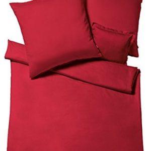 Schöne Bettwäsche aus Flanell - rot 220x240 von fleuresse