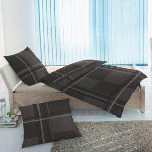 Schöne Bettwäsche aus Flanell - schwarz 135x200 von Etérea