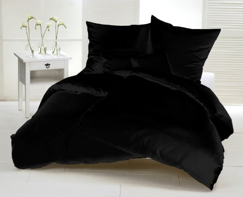 h bsche bettw sche aus flanell schwarz 155x220 von carpe sonno bettw sche. Black Bedroom Furniture Sets. Home Design Ideas