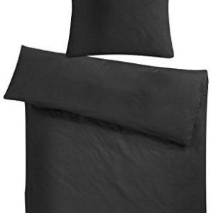 Hübsche Bettwäsche aus Flanell - schwarz 220x240 von Carpe Sonno