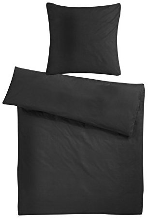 h bsche bettw sche aus flanell schwarz 220x240 von carpe. Black Bedroom Furniture Sets. Home Design Ideas
