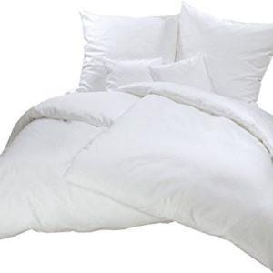 Hübsche Bettwäsche aus Flanell - weiß 155x220 von Carpe Sonno
