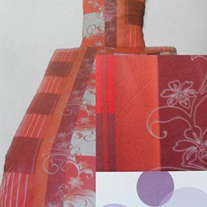 Traumhafte Bettwäsche aus Fleece - rot 155x220