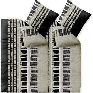 Schöne Bettwäsche aus Fleece - schwarz 135x200 von CelinaTex