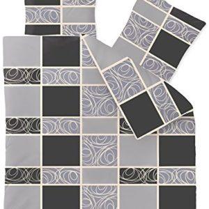 Schöne Bettwäsche aus Fleece - schwarz 200x220 von CelinaTex