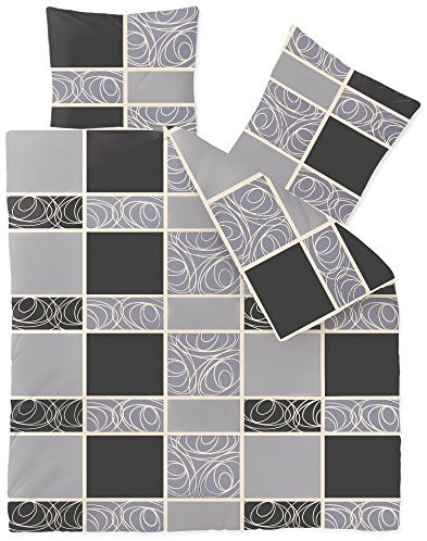sch ne bettw sche aus fleece schwarz 200x220 von celinatex bettw sche. Black Bedroom Furniture Sets. Home Design Ideas