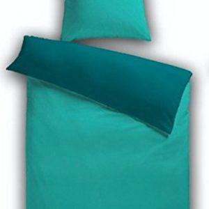 Traumhafte Bettwäsche aus Fleece - türkis 155x200 von HomeStylist