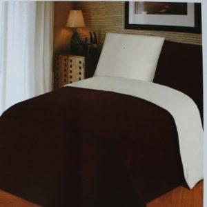 Schöne Bettwäsche aus Jersey - braun 135x200