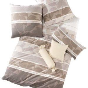 Hübsche Bettwäsche aus Jersey - braun 155x220 von