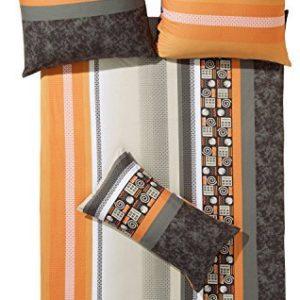 Kuschelige Bettwäsche aus Jersey - grau 155x220 von Erwin Müller