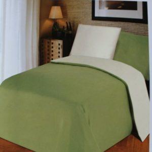 Kuschelige Bettwäsche aus Jersey - grün 135x200 von NightFly