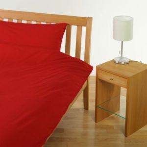 Hübsche Bettwäsche aus Jersey - rot 155x220 von Cotonea