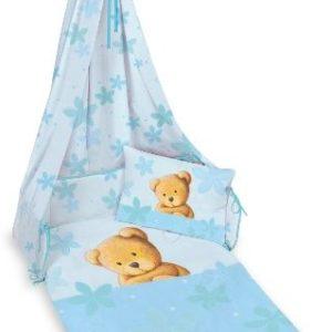 Kuschelige Bettwäsche aus Linon - blau 100x135 von Herding