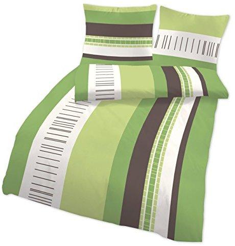 Kuschelige Bettwäsche aus Linon - braun 135x200 von Aminata Home