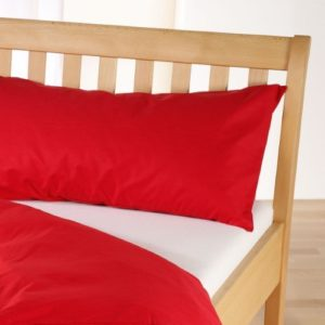 Hübsche Bettwäsche aus Linon - rot 155x220 von Cotonea