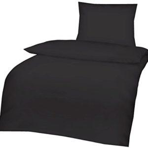 Traumhafte Bettwäsche aus Linon - schwarz 135x200 von Aminata Kids