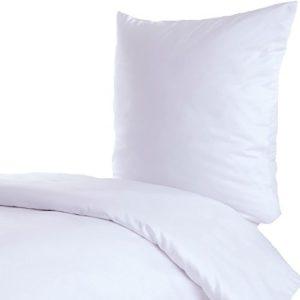 Hübsche Bettwäsche aus Linon - weiß 155x220 von Hans-Textil-Shop