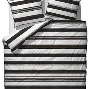 Traumhafte Bettwäsche aus Mako-Satin - schwarz 135x200 von ESPRIT
