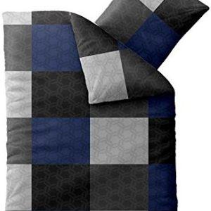 Hübsche Bettwäsche aus Microfaser - blau 135x200 von aqua-textil