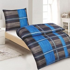 Traumhafte Bettwäsche aus Microfaser - blau 135x200 von Bertels