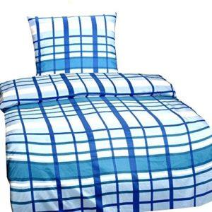 Kuschelige Bettwäsche aus Microfaser - blau 135x200 von Leonado Vicenti