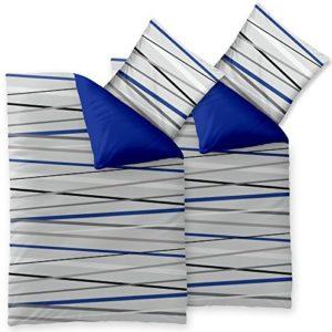 Schöne Bettwäsche aus Microfaser - blau 155x220 von CelinaTex