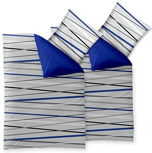 sch ne bettw sche aus microfaser blau 155x220 von. Black Bedroom Furniture Sets. Home Design Ideas